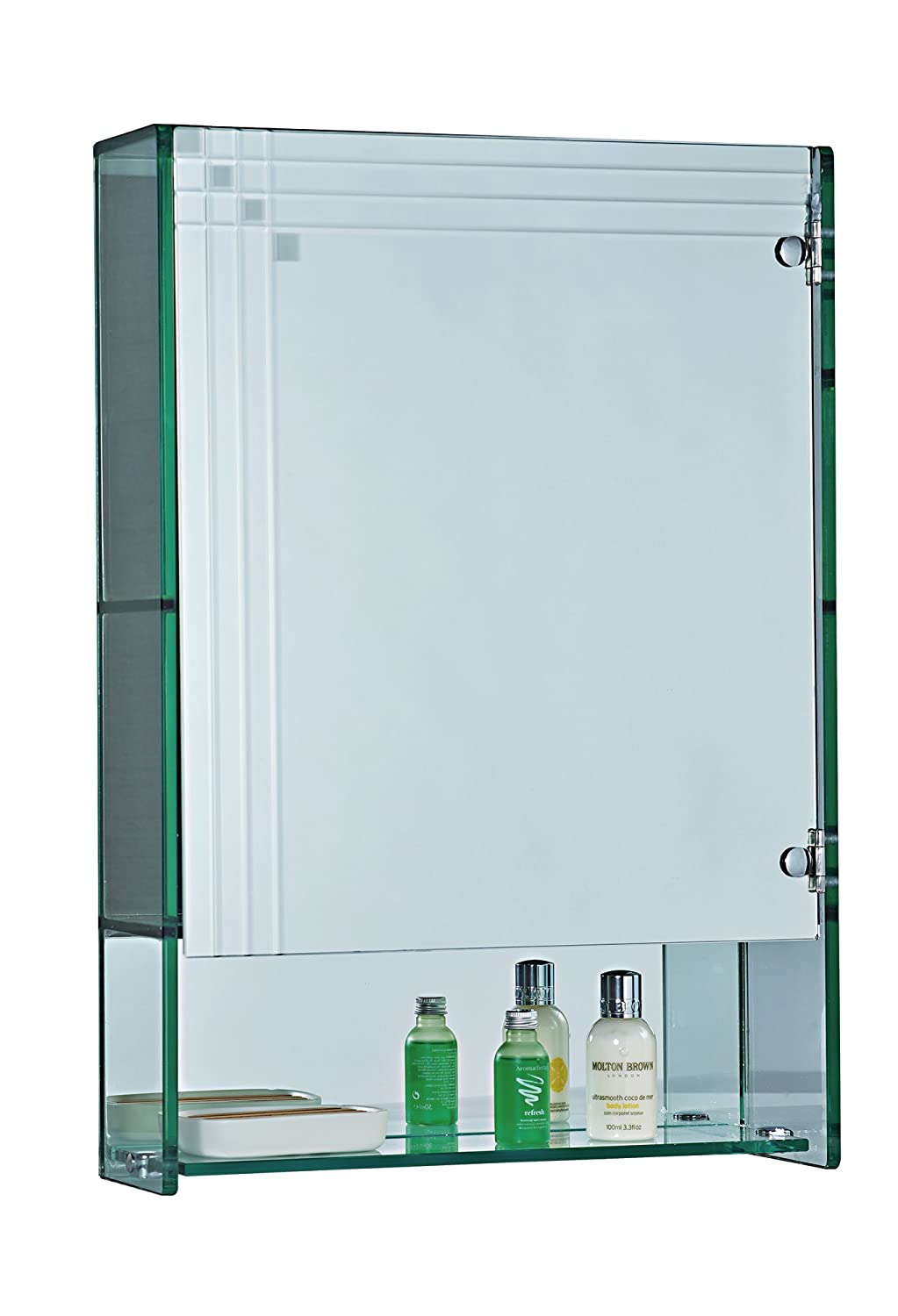 Showerdrape Marratimo Glass Bathroom Cabinet Mirrored Door: Amazon ...