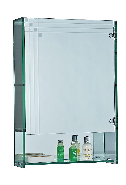 Showerdrape Marratimo Glass Bathroom Cabinet With Mirrored Door ...