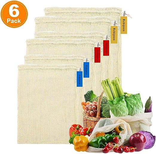 Fruit Mesh Bags Produce Vegetable Storage Reusable Net Food Kitchen Banana Orang