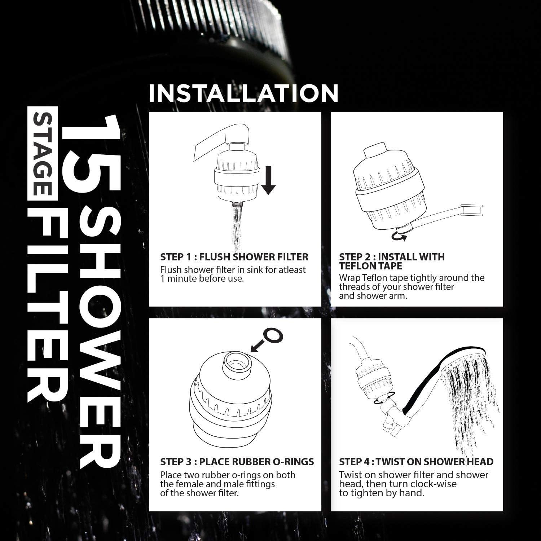 PurRite Shower Filter Water Softener easy to install