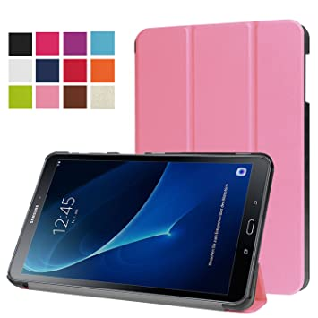 cheaper 3e07a 97d9b Samsung Galaxy Tab A 10.1 (2016 Release) Cover Case (SM-T580/SM-T585) -  Slim Lightweight Standing Custom Fit Cover [Auto Sleep / Wake up] for Tab A  ...
