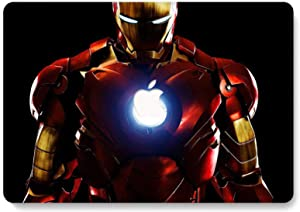 MacBook Air 13 inch Case, RQTX Hard Plastic Protective Shell Laptop Cover Compatible MacBook Air 13 inch Model A1369/A1466 (Older Version 2010-2017) - Iron Man LRS350