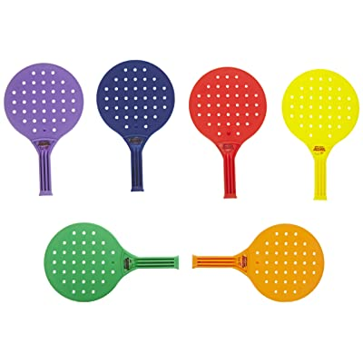 Sportime Global Games Paddle - 8 x 13 1/2 - Set of 6 Paddles - 6 Colors - Balls Sold Separately , Assorted Colors - 018946: Industrial & Scientific