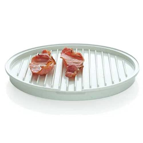 ITOMTE Stain Proof Microwave Bacon Crisper Grill Round Plate 23X20cm