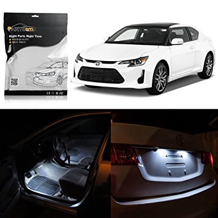 Fits 2008-2014 Scion tC GREEN LED Interior Light Accessories Replacement Kit 7PC