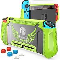 HEYSTOP Dockable Case Compatibel met Nintendo Switch Cover TPU Case Beschermhoes Compatibel met Nintendo Switch Console…