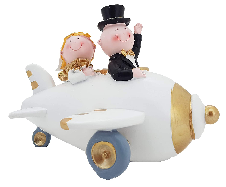 Goldene Hochzeit Tortendeko Tortenfigur Spardose Hochzeitspaar im Auto