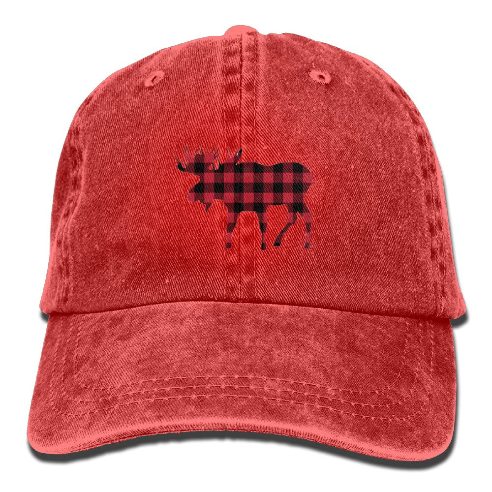 Buffalo Plaid Moose Personalized Adjustable Cowboy Hat