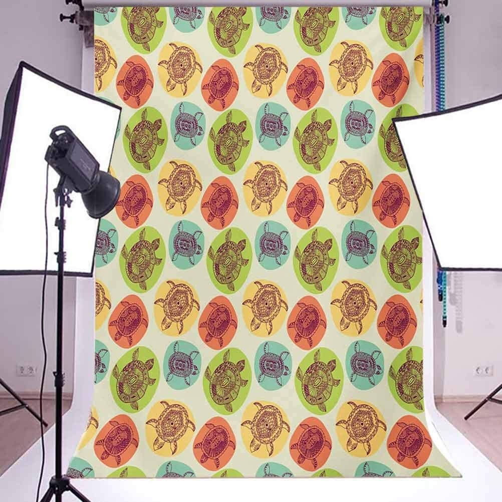 Jungle 8x10 FT Photography Backdrop Rainforest Vegetation Tropical Leaves and Flowers Lively Paradise Foliage Nature Background for Party Home Decor Outdoorsy Theme Vinyl Shoot Props Multicolor
