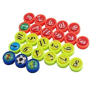 Imanes Nevera, BizoeRade 26 Unidades Mini fútbol imanes con bolsa, ideal para fútbol Táctica Formas, Oficina, pizarra blanca, frigoríficos, tarjetas & ...