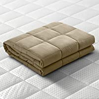Giselle Bedding Weighted Blanket 5KG Cotton Weighted Gravity Blanket Deep Relax Sleep Blanket for Adult Brown