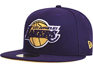 New Era 59Fifty NBA Hat Los Angeles Lakers Kobe Bryant  24 Jersey Dark Purple  Cap 7c053425af07