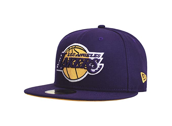 4e824171b98 Amazon.com : New Era 59Fifty NBA Hat Los Angeles Lakers Kobe Bryant #24  Jersey Dark Purple Cap : Clothing