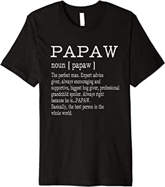Amazon.com: Papaw Definition Grandpa Father's Day Gifts