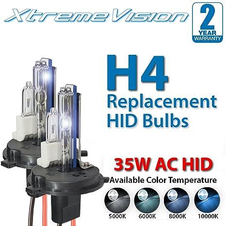 XtremeVision 35W  H4 HID Xenon Kit 4300K 5000K 6000K 8000K 10000K