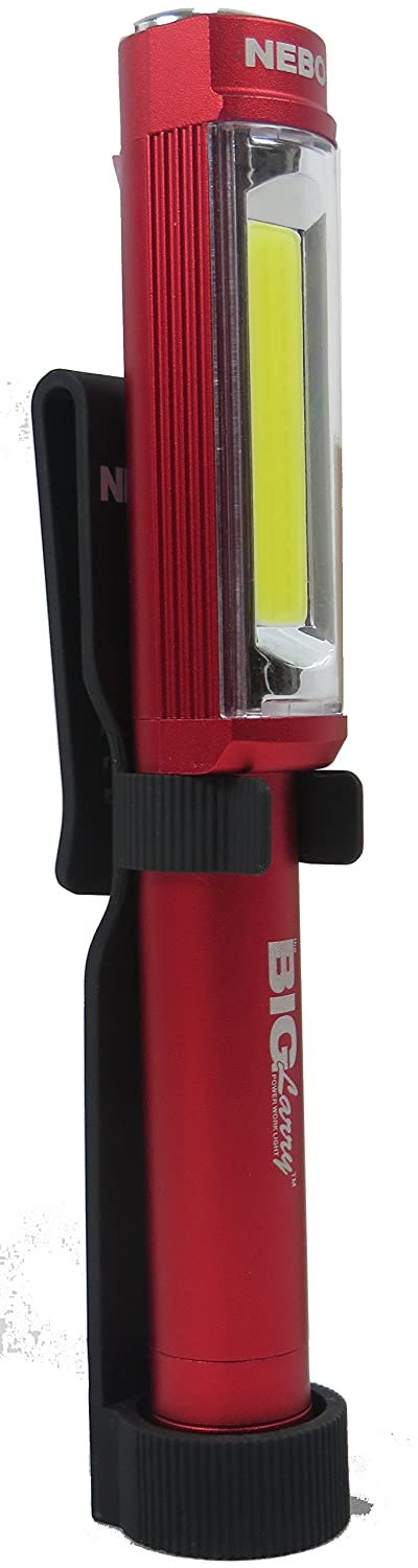 Big Larry Magnetic 400 Lumen LED Worklight With Holster By Nebo (Red)