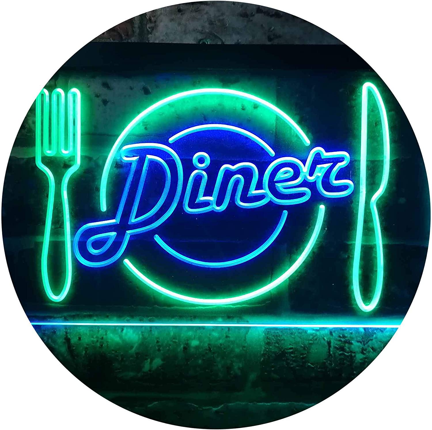 LED Neon Light Sign Cutlery Knives and Forks Sign Restaurant Waterproof