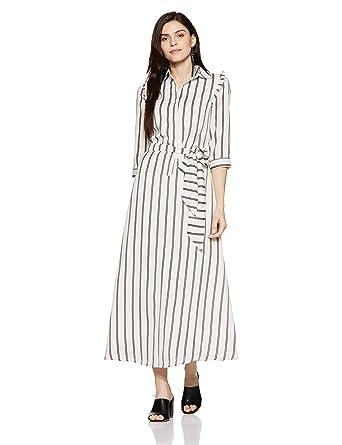 9a44955e5c09b Stalk Buy Love Women's Monochrome Striped Elina Knotted Maxi Dress  (In1827Mtodresti-244_Multi-Coloured_2XL