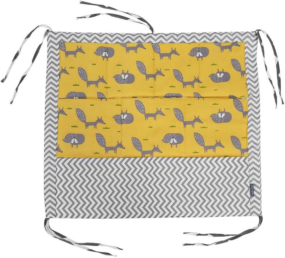 B/éb/é Crib Sac de Rangement Suspendu avec 9 Poches Sac de Rangement Suspendu Lit Couche Sac Organisateur Berceau Coton Organisateur Nouveau-n/é Lit de Literie Buggy Sac B/éb/é Chambre D/écor N/°2