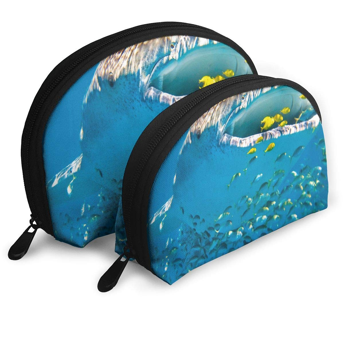 89836911f477 Amazon.com : Makeup Bag WHALE SHARK Portable Shell Toiletry ...