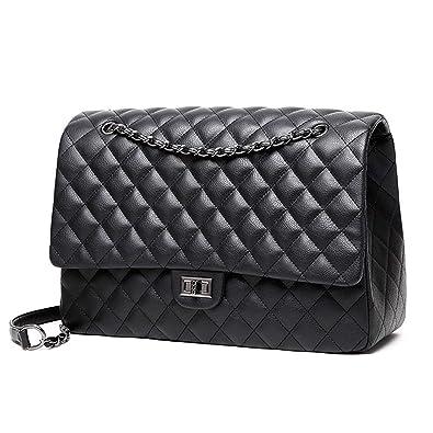 Amazon.com: Bolsas de viaje grandes para hombro, de piel ...