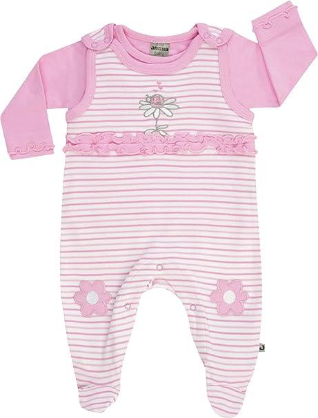 JACKY - Pelele - para bebé niña Rosa/Blanco 62 cm: Amazon.es: Ropa y accesorios