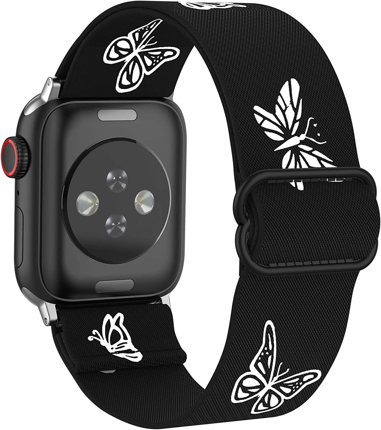 MITERV Stretchy Nylon Loop Bands Compatible with Apple Watch 38mm 40mm 42mm 44mm Adjustable Soft Elastics Strap Compatible with Apple Watch SE iWatch Series 6/5/4/3/2/1