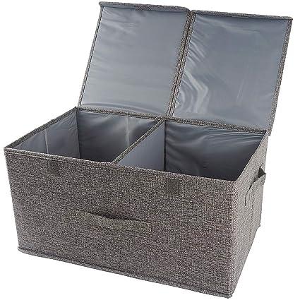 Organizador de ropa cajas de almacenamiento con separadores extraíbles,caja de almacenamiento de ropa con