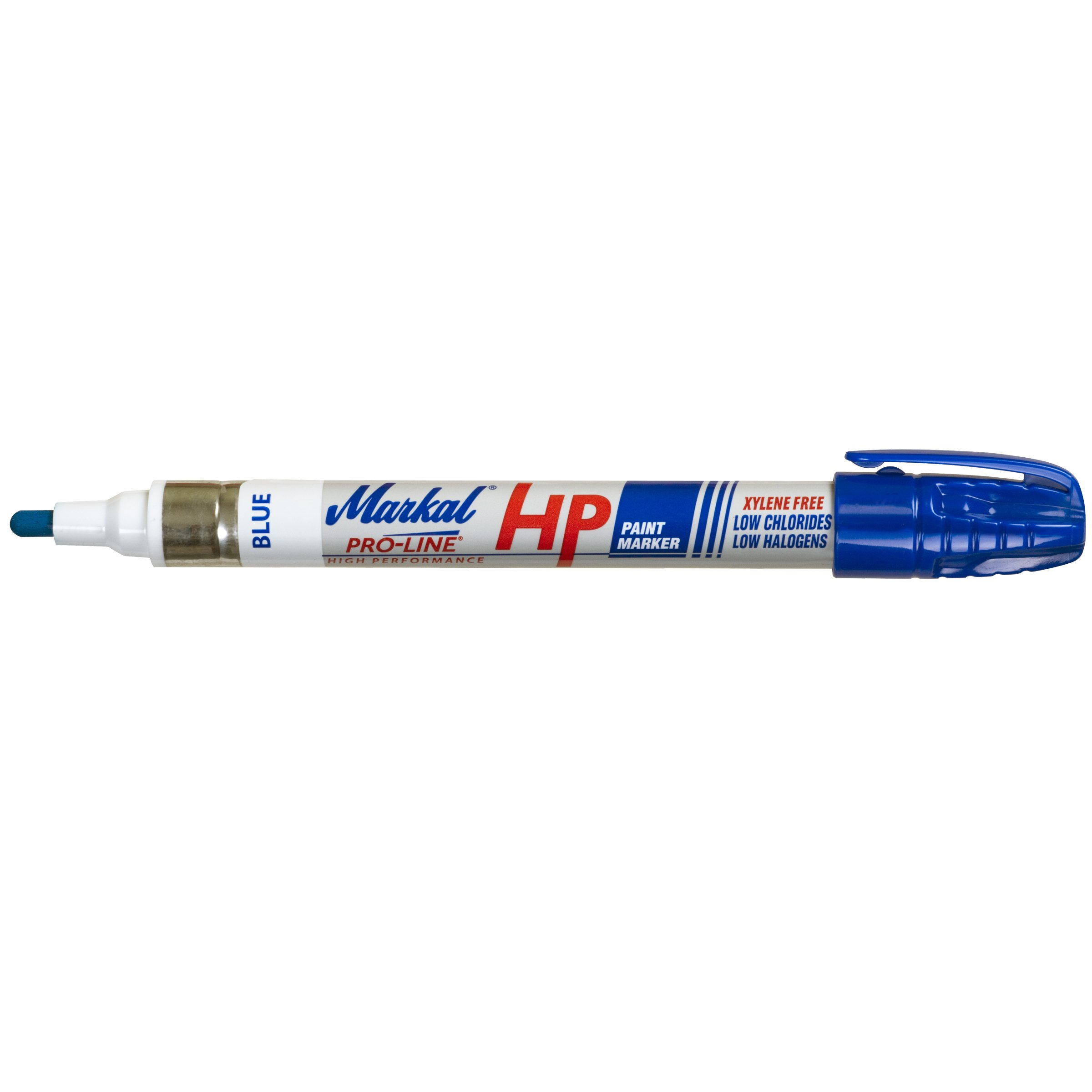 Markal Pro-Line HP High Performance Liquid Paint Marker with 1/8'' Bullet Tip, Blue (Pack of 12) by Markal