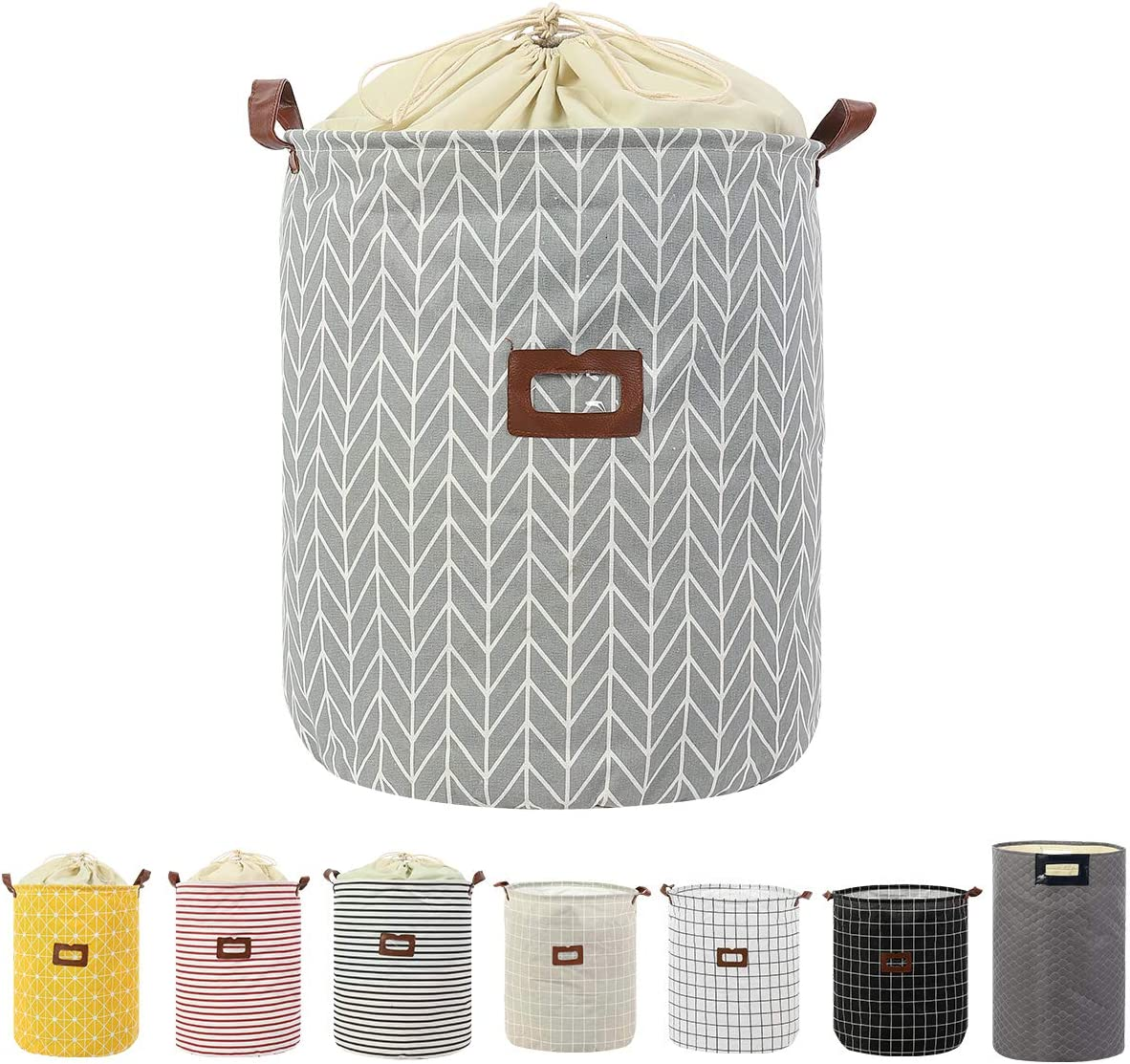 Clothes Laundry Hamper Storage Bin Large Collapsible Storage Basket Kids Canvas Laundry Basket for Home Bedroom Nursery Room (PATTERN-02)