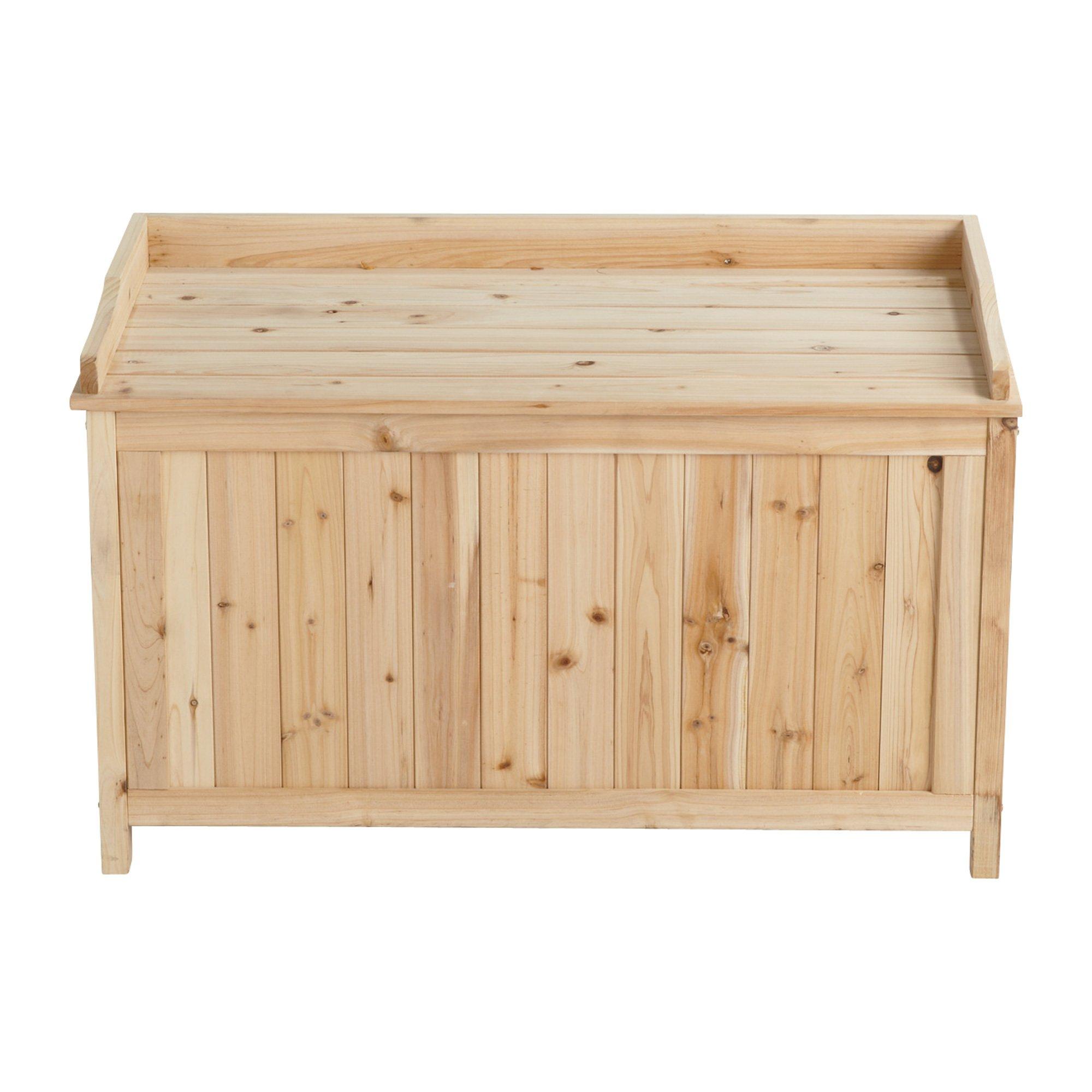5.7 Cu. Ft. Cedar/Fir Outdoor Storage Deck Box