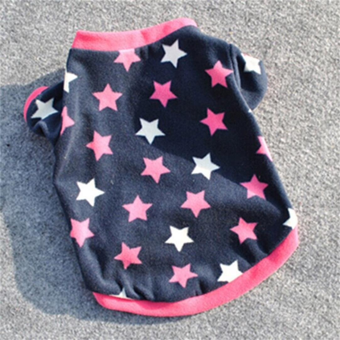 Howstar Pet Clothes, Puppy Star Print Shirts Doggie Apparels Soft Warm Costume (Blue, XS) by Howstar (Image #3)