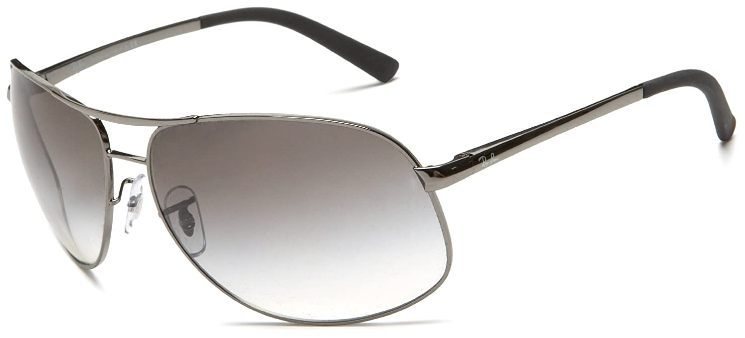 c518deb758c Ray Ban Sunglasses RB 3387 RB3387 004 8E Metal Silver Gradient grey black   Amazon.co.uk  Clothing