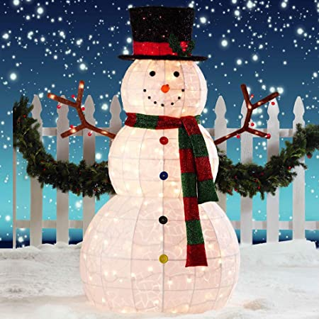 Giant Snowman LED Christmas Decoration for Indoor/Outdoor: Amazon.co ...