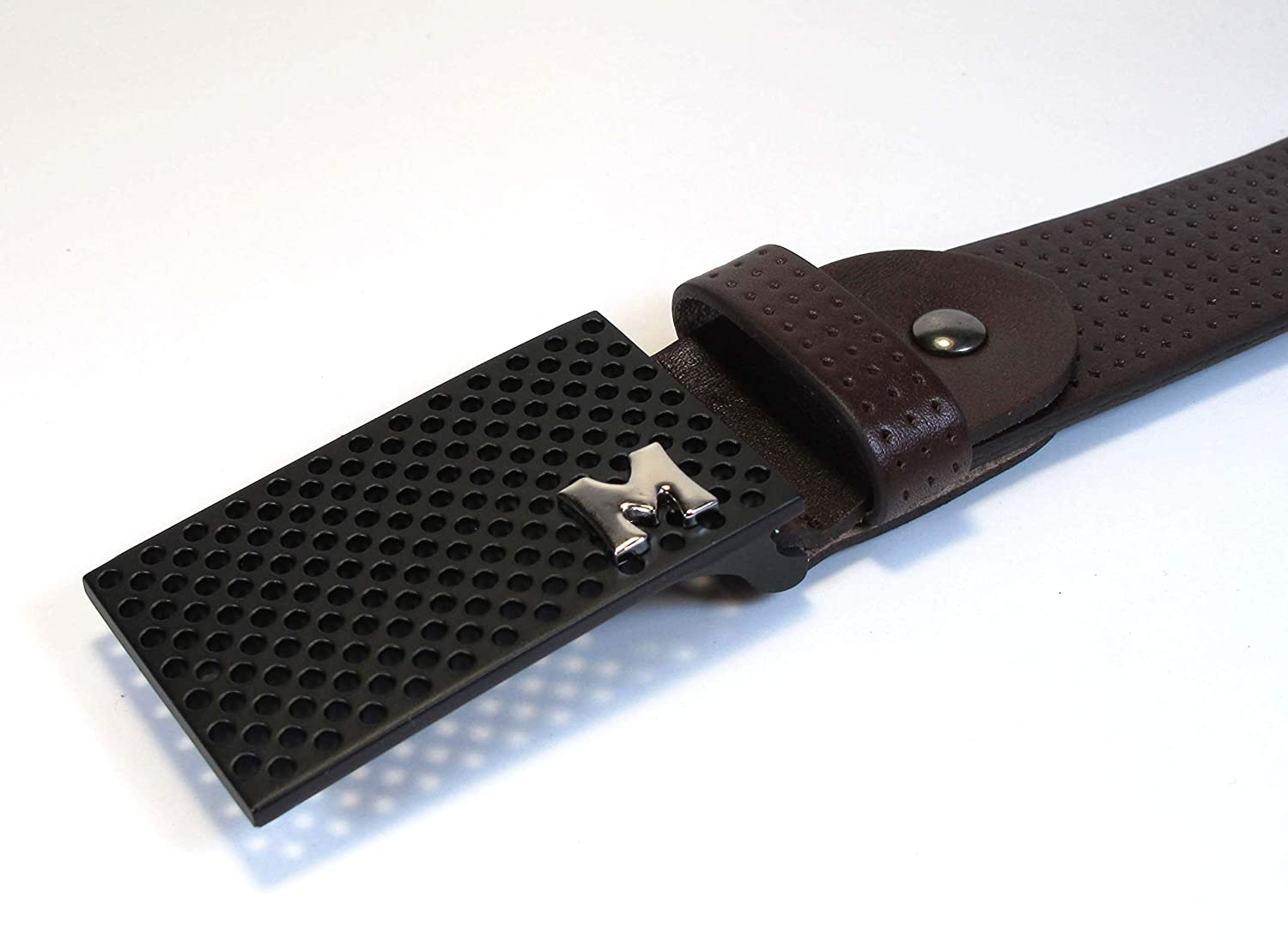 Mens Real Genuine Leather Belt Black Brown White 1.5 Wide S-L Casual Jeans CU2