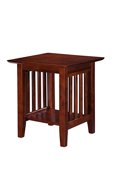 Atlantic Furniture AH14204 Mission End Table, Walnut