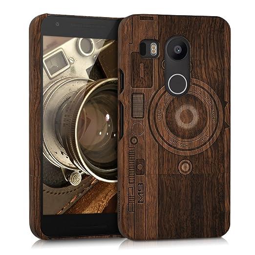 10 opinioni per kwmobile Custodia in legno per LG Google Nexus 5X Cover legno naturale legno di