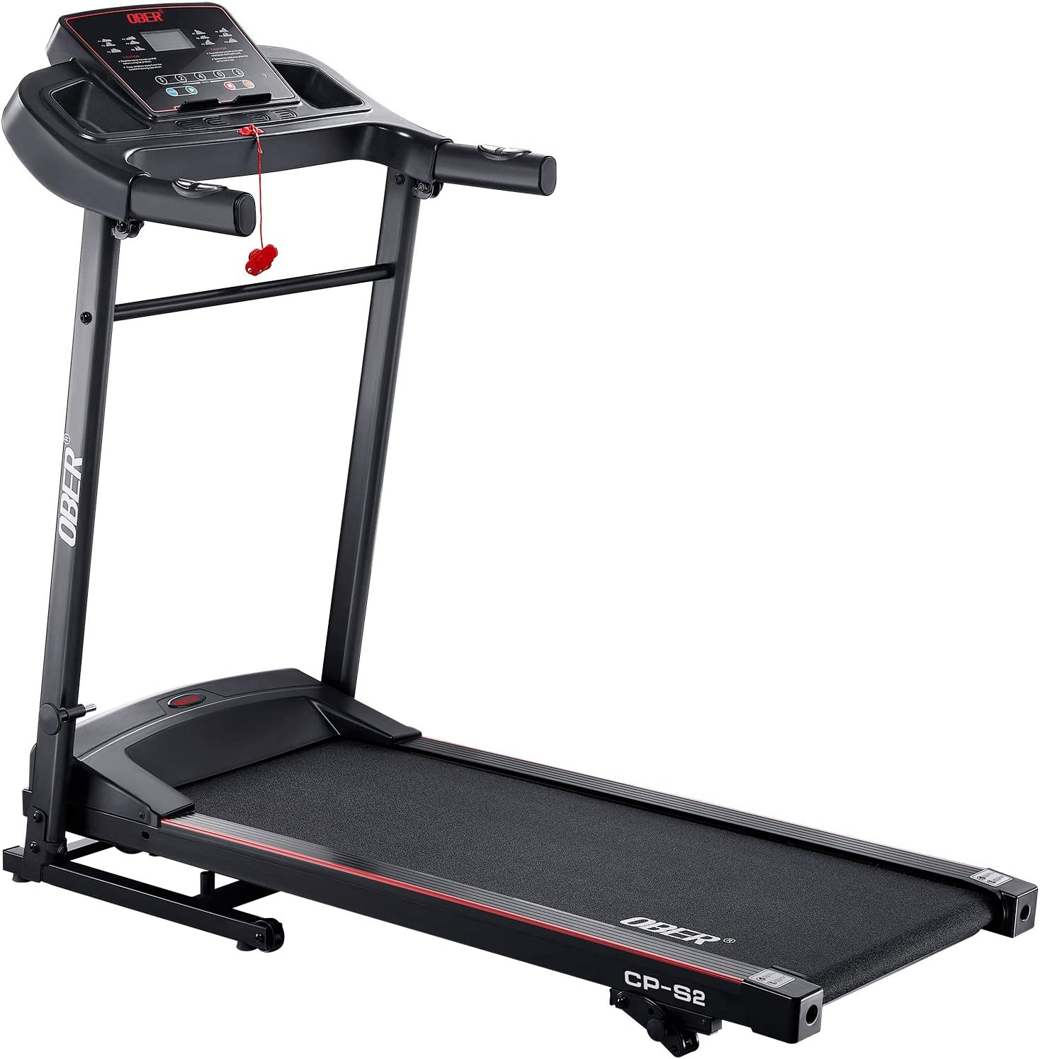 Ober Folding Treadmills for Home with Incline, Portable Electric Motorized Treadmills Jogging Walking Running Machine for Home/Gym/Office/Workout/Exercise/Fitness/Cardio/Indoor