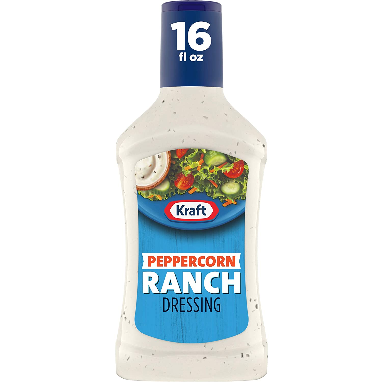 Kraft Peppercorn Ranch Salad Dressing (16 fl oz Bottles, Pack of 6)