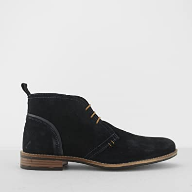 acab6d34b Silver Street London York Mens Suede Leather Chukka Boots Navy UK 12 ...