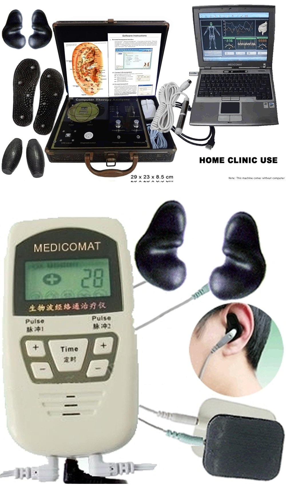 Healthcare Software Solutions Pack_2 (SAVE $100): Healthcare Analyzer Therapeutic Computer + Handheld Acupuncture Treatment (Medicomat29+ and Medicomat-10) Early Detection and Early Treatment