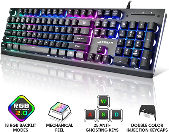 Keyboards Mechanical with Backlight 104 Keys Stepped Layout Metal Panel for Office Internet Cafe Computer External Waterproof Device