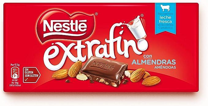 Nestlé Extrafino - Tableta de Chocolate con Leche y Almendras - 7 ...