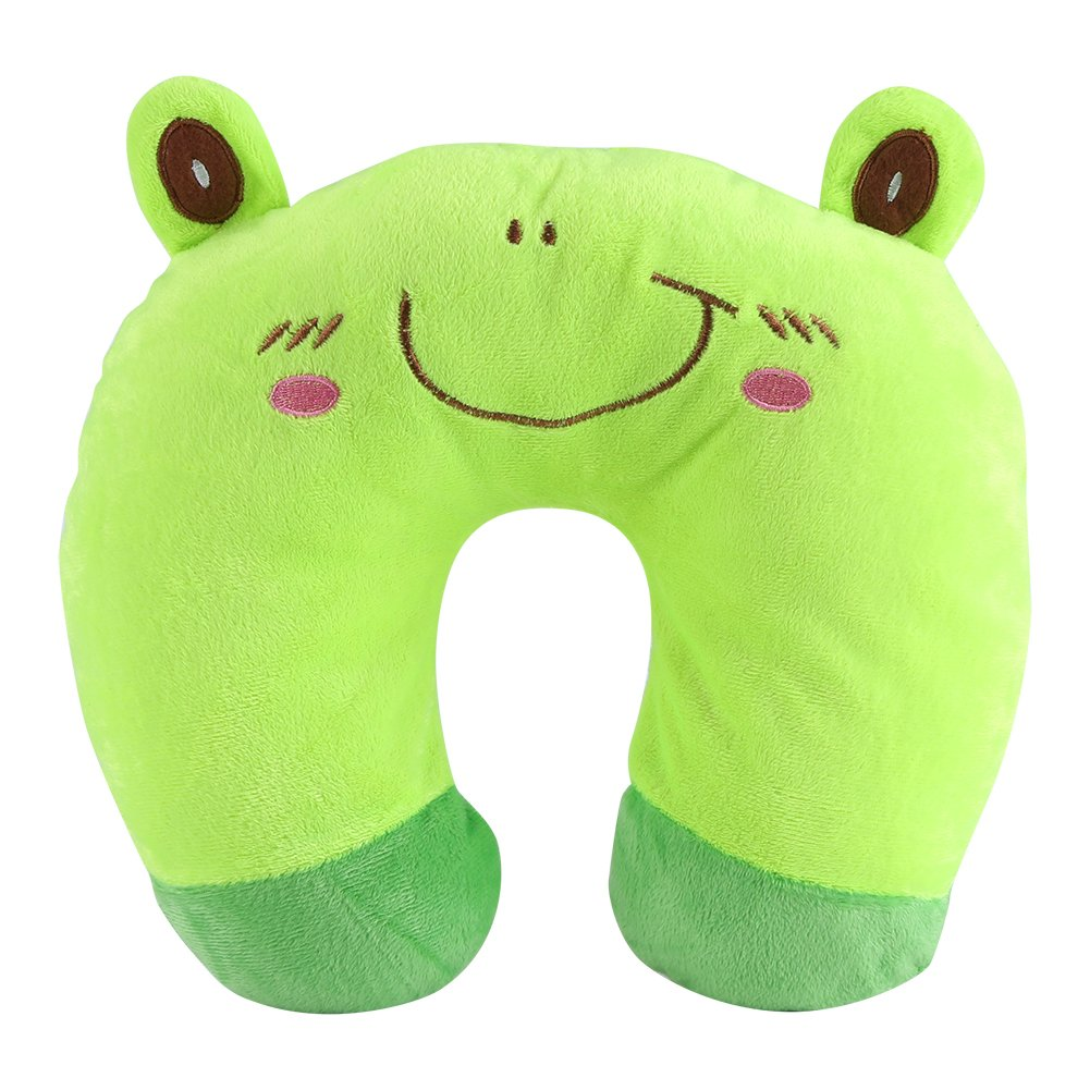 Neck U Pillow Cartoon Animal PP Cotton U-Shaped Pillow Travel Car Airplane Seat Neck Rest for Home Office Travel(Black cat) Yosoo