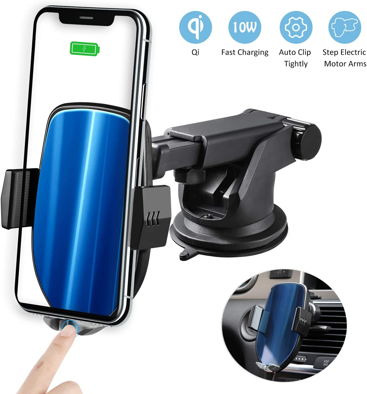 Zeonetak QI Chargeur sans Fil Voiture, Support Telephone