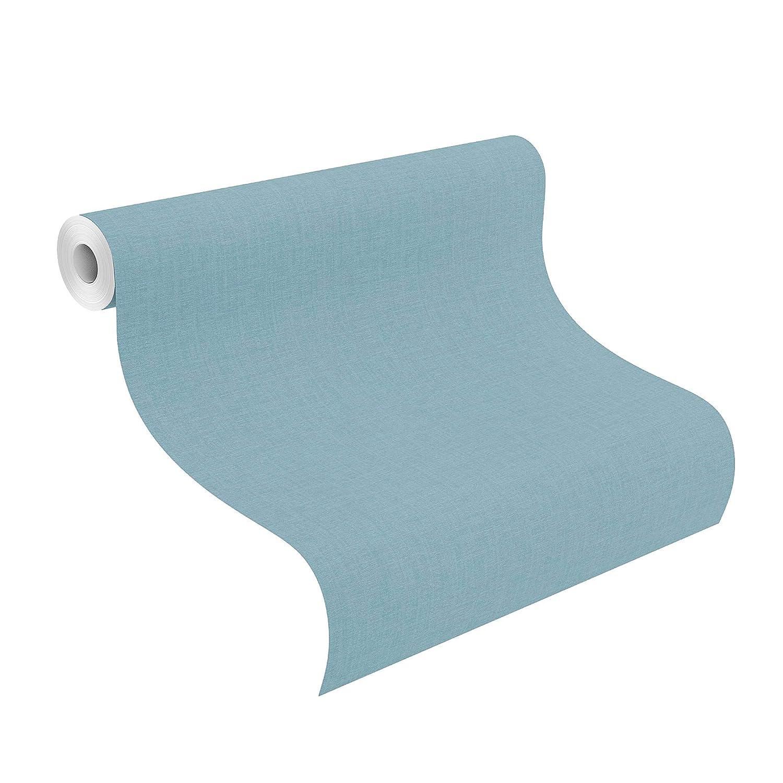 Einfarbige Vliestapete in mattem Blau L x B 10,05m x 53cm rasch Tapete 402469 aus der Kollektion Uptown