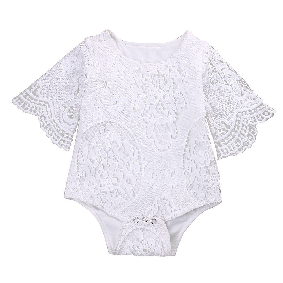 Baby Girl Clothes White Lace Romper Bodysuit Jumpsuit Sunsuit Newborn Clothing Outfits Baby Shower Gift