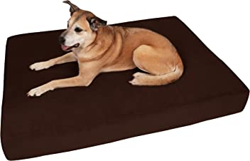 """Big Barker 7"""" Pillow Top Orthopedic Dog Bed for Large and Extra Large Breed Dogs (Sleek Edition)"""