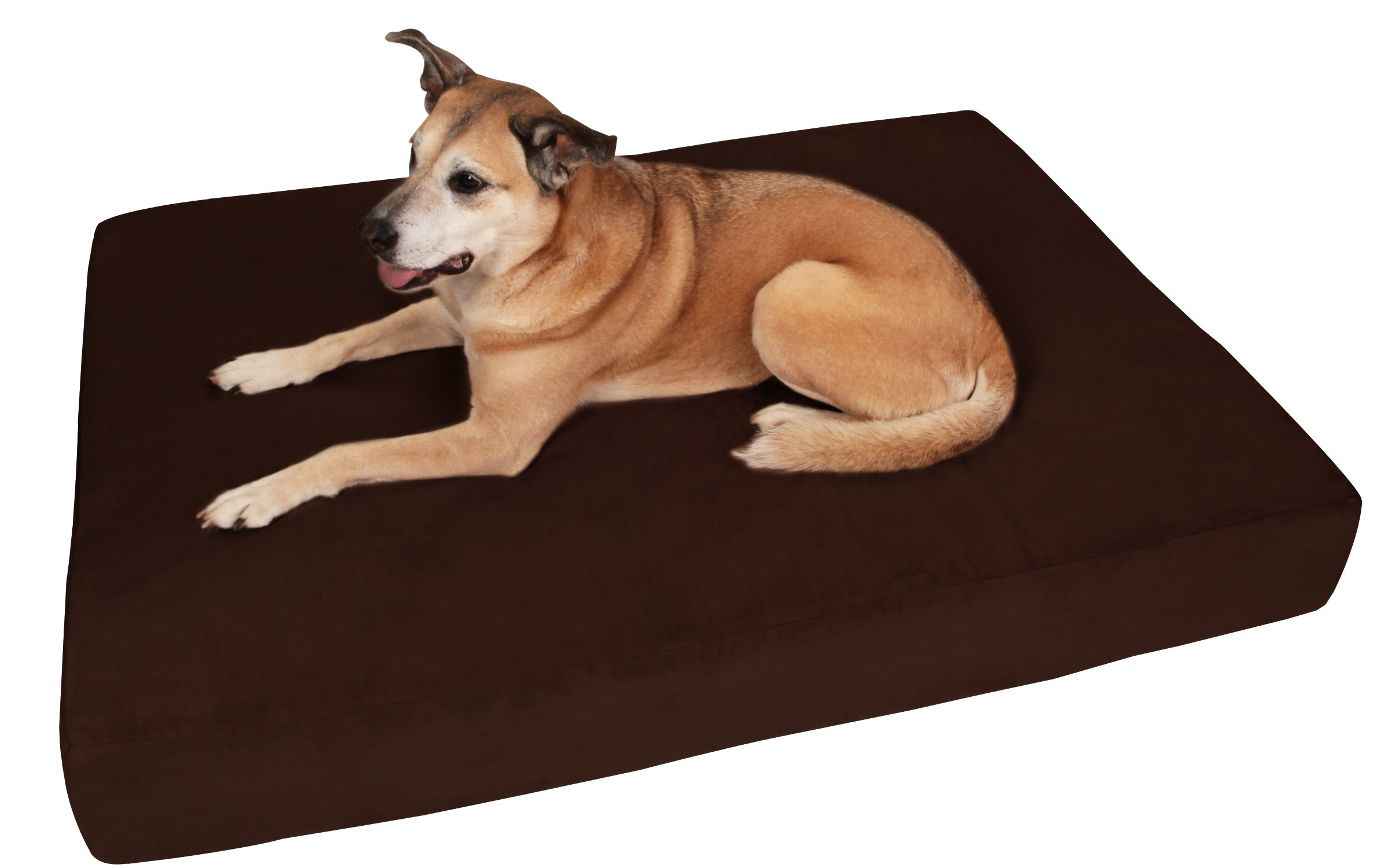 Big Barker 7'' Pillow Top Orthopedic Dog Bed - Large Size - 48 X 30 X 7 - Chocolate - For Large and Extra Large Breed Dogs (Sleek Edition) by Big Barker (Image #1)