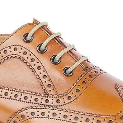 Cordones redondos para zapatos, de 55 Sport, de algodón encerado, color Marrón, talla 75 cm